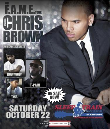 Chris Brown Concerts on One Winner  Two Tickets  Enter To Win Chris Brown Concert Tickets From