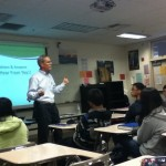 Environmental engineer speaks to math classes