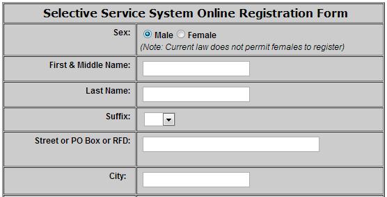 Selective Service registration mandatory for all males over 18 – Selective Service Registration Form