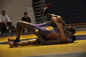 Wrestling: Slow start, illness and bloody noses lead to senior night game loss