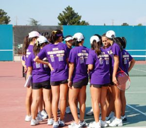 Varsity girls tennis defeats Los Altos in first league match