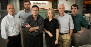 "Movie review: ""Spotlight"" tells success story without mythologizing the press"