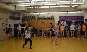 Dance team holds annual tryouts