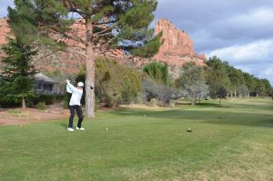 Junior Marcus Harjono discovers a passion in the sport of golf