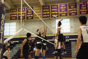 Boys volleyball: Team celebrates senior game with straight sets over Mountain View HS