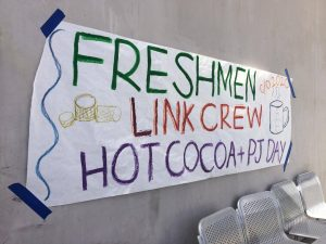 Link Crew hosts hot cocoa event and pajama day for Class of 2020