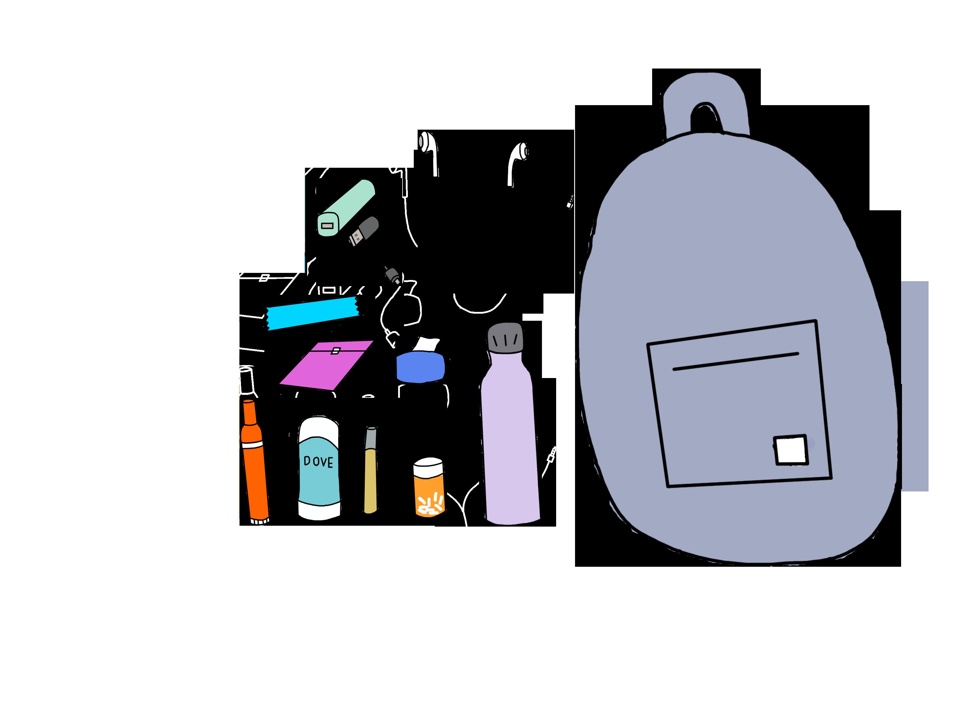 Back to school backpack necessities