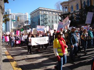 Take two: thousands gather for the second annual women's march