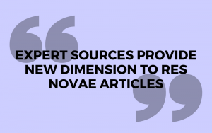 Expert sources provide new dimension to Res Novae articles