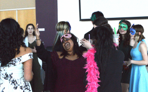 Masquerade Party goers spend an eventful evening together