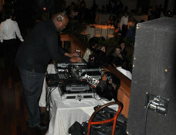 The DJ plays music for students at Winter Ball 2010. Photo by Jackie Barr.