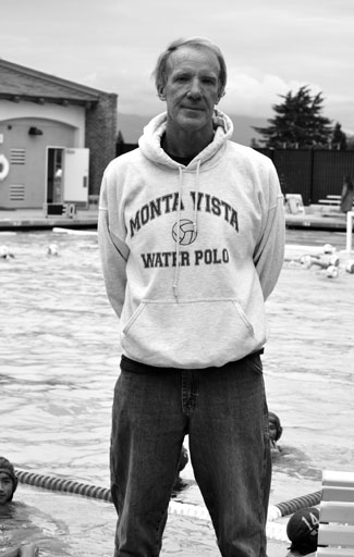 Coach Edwin Samuels coaches the varsity boys water polo team, using all the experience he has had as professional player. Photo by Jacob Lui.