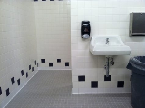 B-building bathroom construction completed