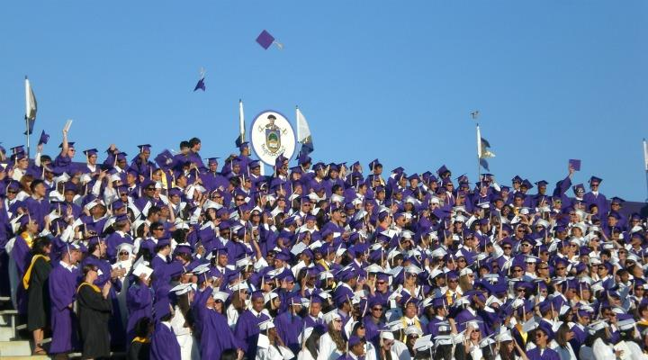 The+2011+graduation+ceremony+was+held+at+MVHS+on+June+8%2C+the+Thursday+afternoon+of+the+last+week+of+school.+This+year%2C+graduation+will+take+place+at+9%3A30+a.m.+at+Foothill+College+on+Friday%2C+June+8.+Photo+by+Rachel+Beyda.