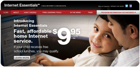 Reduced cost Internet available to low income students