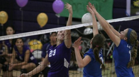 Girls volleyball: Tough fight on Senior Night