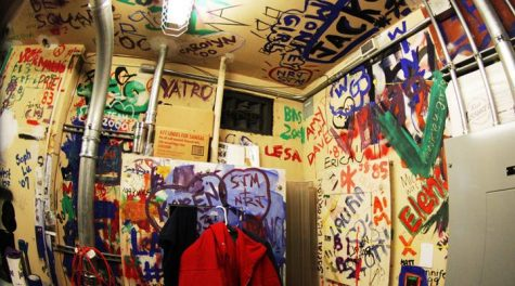 Stories behind graffiti in electrical room