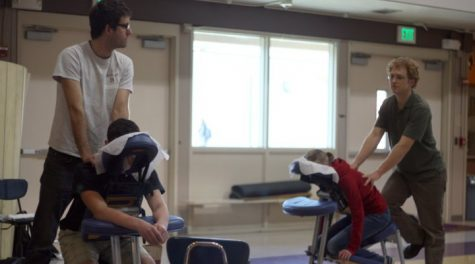 Massages put students back in action