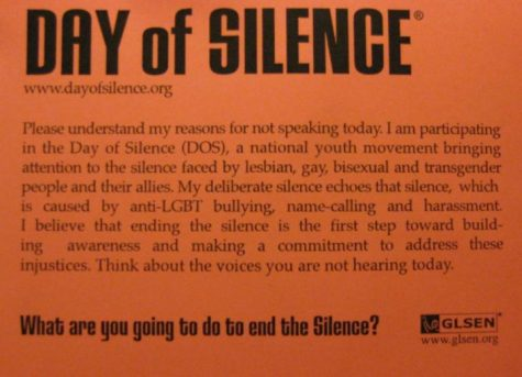 Gay-Straight Alliance hosts 'Day of Silence'