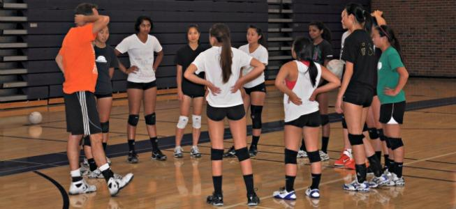GIRLS VOLLEYBALL: Two players, one passion