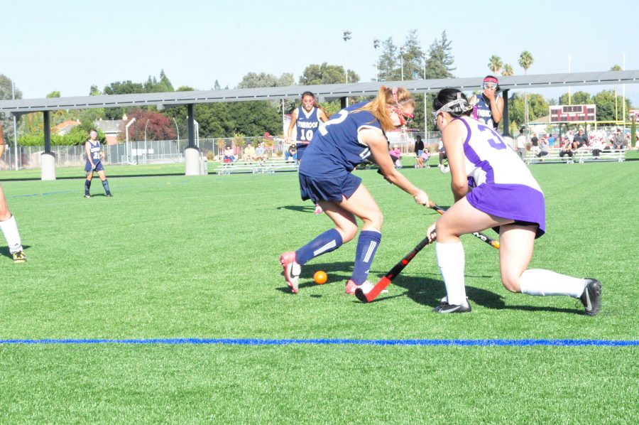 Junior Katrina Chan weaves the ball down the sideline past a Lynbrook player. The Matadors were unable to execute, despite many scoring opportunities. Photo by Mihir Joshi