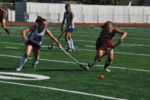 Sophomore Katie Sommers intercepts CHS ball.