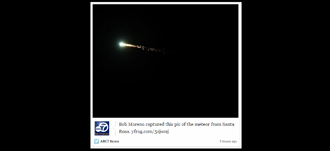 STORIFY: Meteor spotted over Bay Area Oct. 17