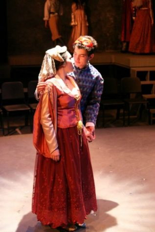 Romeo, played by Rafael Ruiz, dances with Juliet, played by Kazmiera Tarshis, at the masquerade ball and as they start dancing, they instantly fall in love with each other. Photo used with permission from Holly Cornelison.
