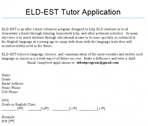 New ELDEST program enlists students to tutor at elementary schools