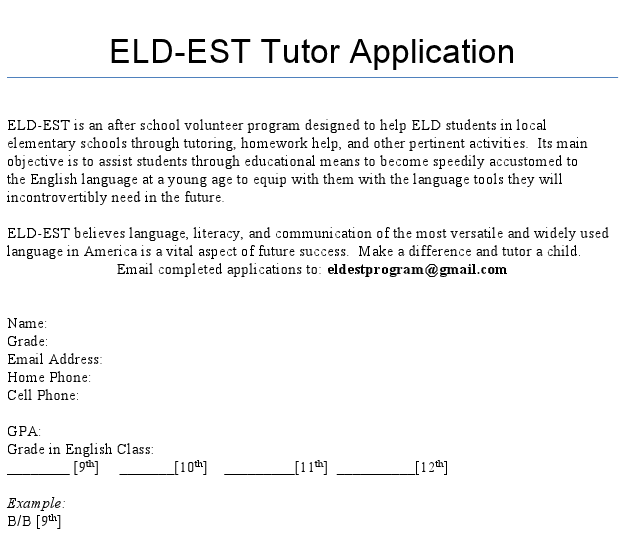 A new afterschool organization started by junior Diane Chong gives students the opportunity to tutor ELD students at local elementary schools.