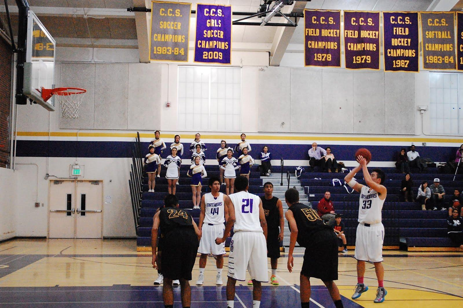 Senior Alex Soong shoots a free throw in MVHS's Jan. 15 game against Wilcox High School. Soong's contribution of 11 points and 8 rebounds was not enough as the Matadors lost 57-45. Photo by Robert Sulgit.