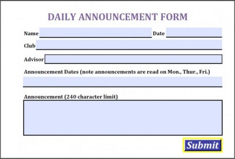 New announcements PDF form
