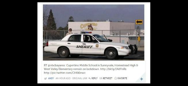 UPDATE: Sunnyvale schools locked down Jan. 25; gunman reports fabricated