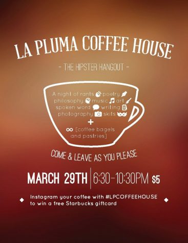 La Pluma hosts second annual coffee house fundraiser
