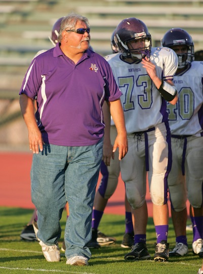 Campus Supervisor Ruben Delgado was an offensive line coach for JV football for three years. He passed away this Saturday evening after a heart attack. Photo courtesy of Stephen Choy.