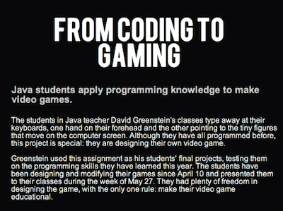 From coding to gaming