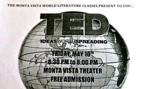 TED Talk showcase to be held on May 10