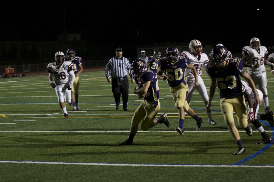 Senior+Takuto+Doshiro+rushes+toward+the+endzone+in+MVHS%27+Homecoming+game+against+Fremont+High+School.+The+Matadors+won+the+game+by+a+score+of+42-8.+Photo+by+Colin+Ni.