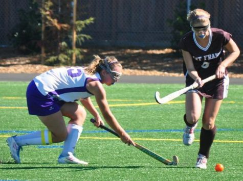 Strong defense highlights first field hockey game