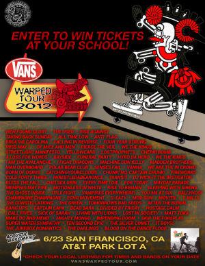 2012 Warped Tour Tickets Giveaway