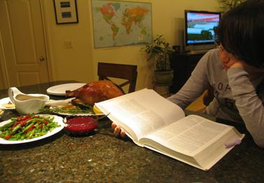 A student's Thanksgiving