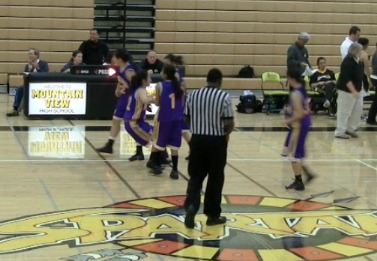 Girls varsity basketball seize first league victory 71-66 against Mountain View