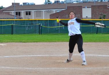 Girls varsity softball protect their pristine home record