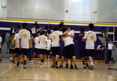 Boys varsity volleyball defeats Lowell in overtime