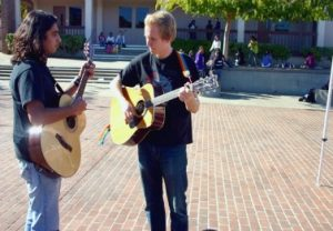 Guitar Club performs busking throughout MVHS