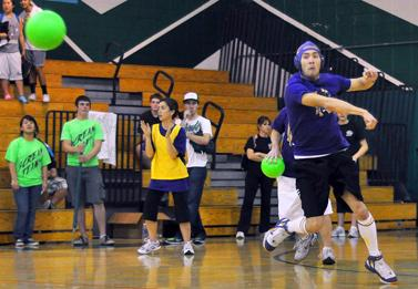 Annual district staff dodgeball tournament at HHS
