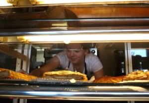 Passing around the pastries
