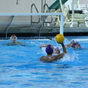 Boys varsity water polo crushes Gunn 15-6