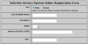 Selective Service registration mandatory for all males over 18