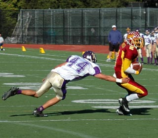 Varsity football loses in CCS to Menlo-Atherton